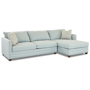 Klaussner Tilly 2 Pc Sectional Sofa w/  LAF Enso Sleeper