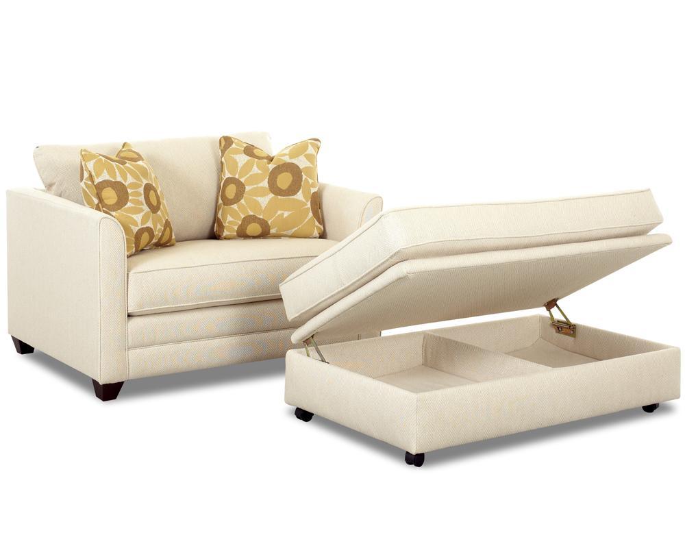 Klaussner Tilly Storage Ottoman Value City Furniture