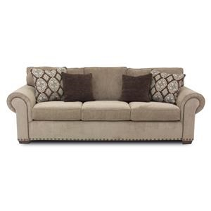 Exceptionnel Traditional Sofa With Two Sizes Of Nailheads