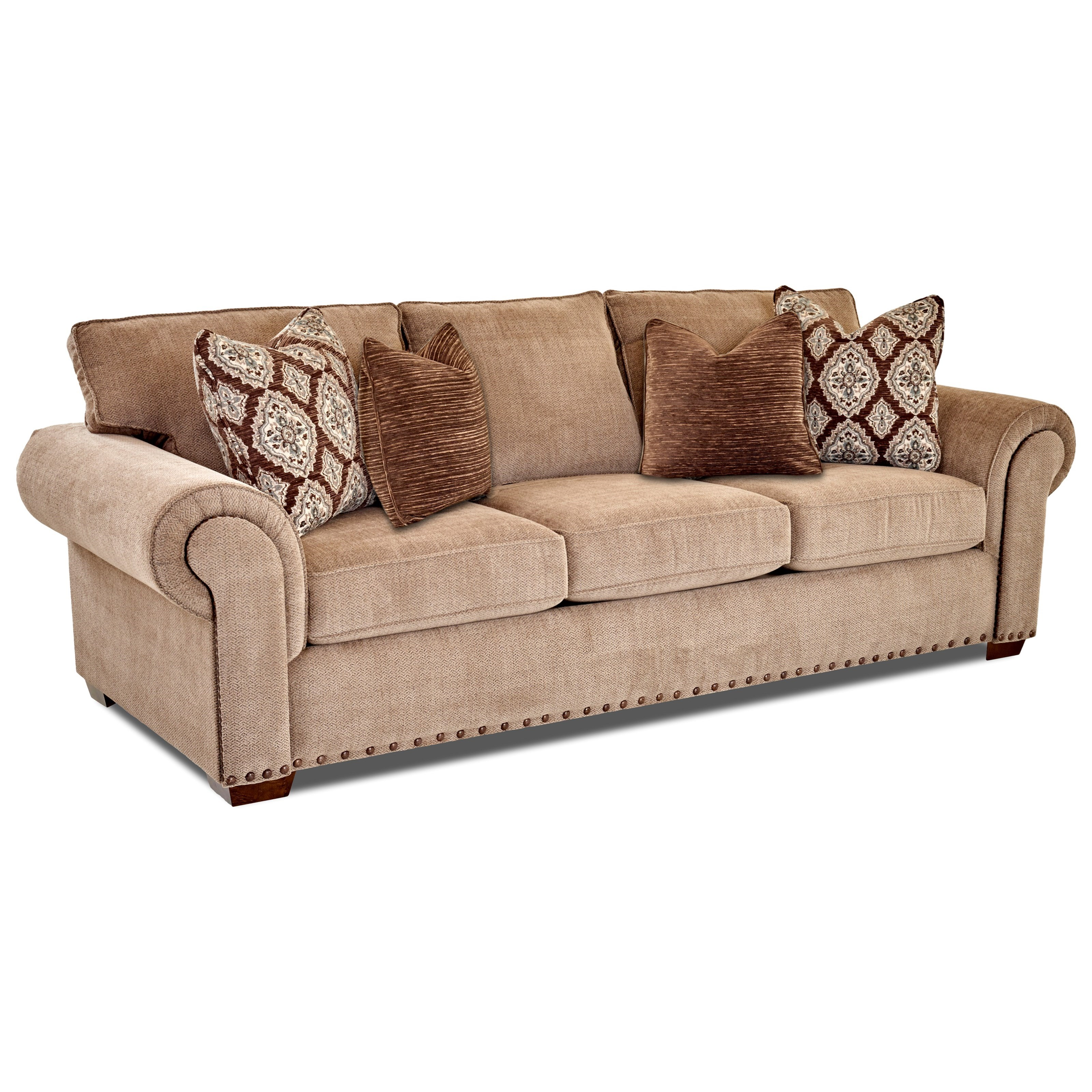 Klaussner Topton Ok70710 S Traditional Sofa With Two Sizes
