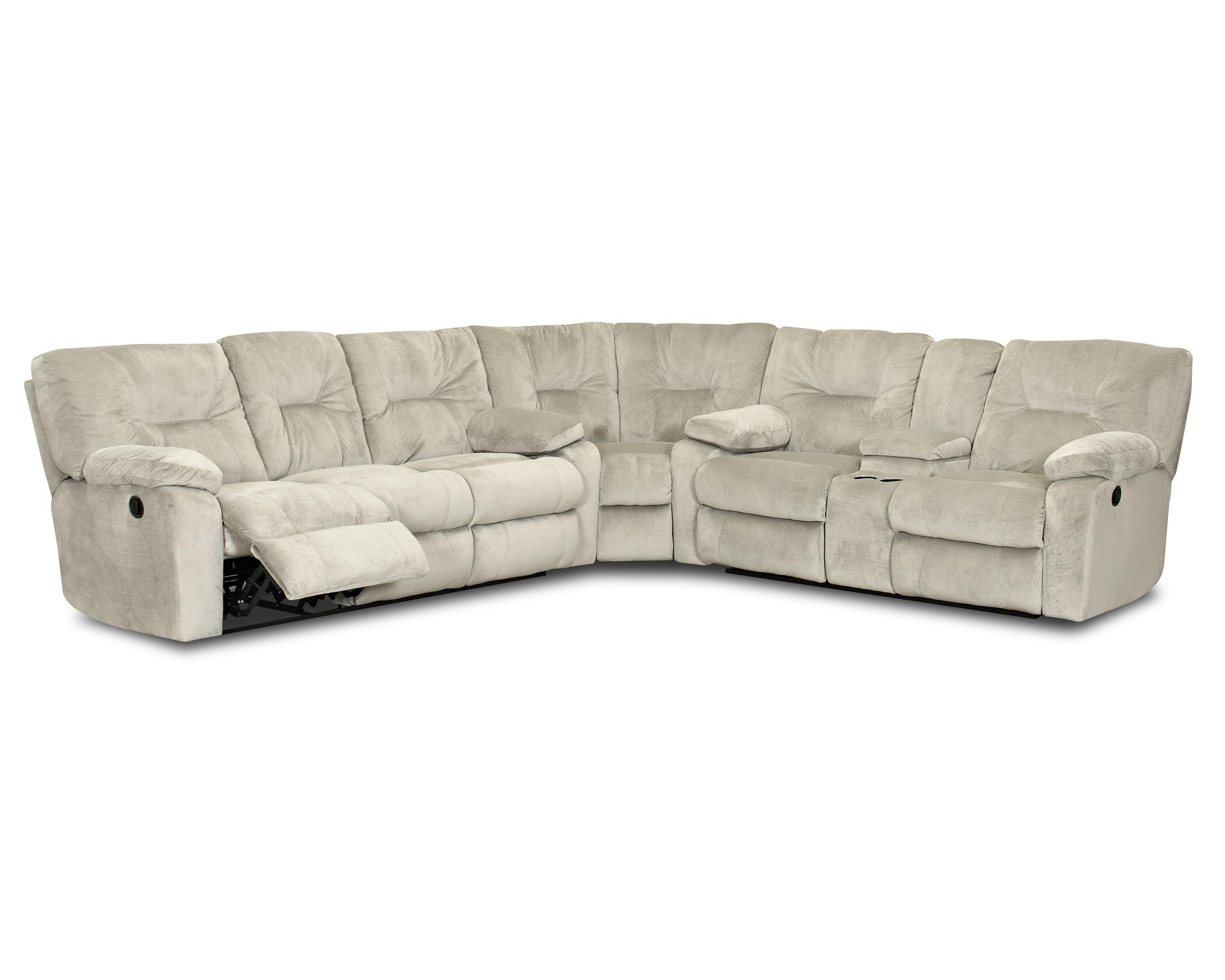 Klaussner Toronto Casual Power Reclining Sectional With
