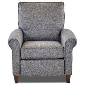 Klaussner Township High Leg Recliner