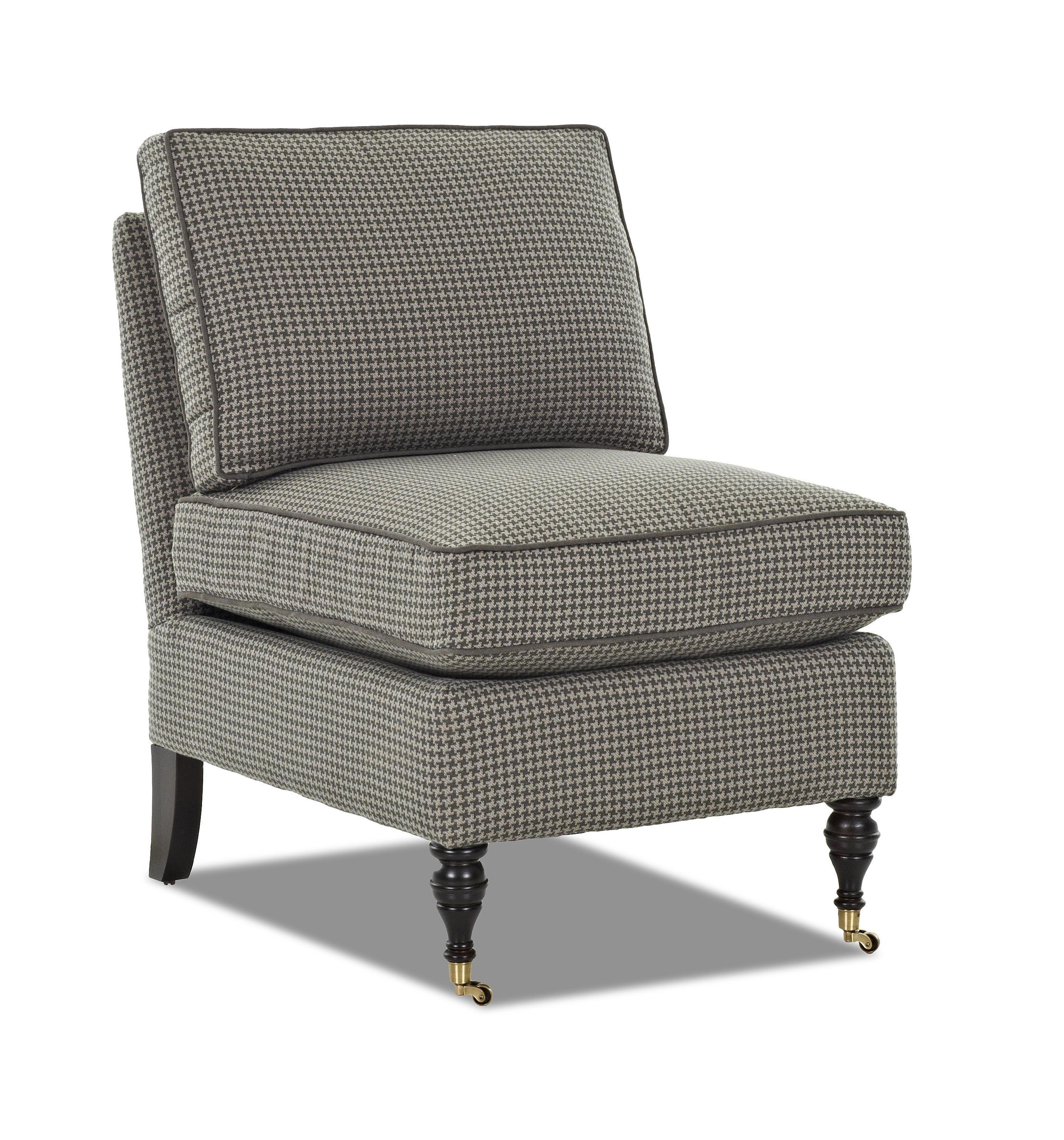 Klaussner Trixie Traditional Armless Accent Chair with ...