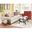 Klaussner Troupe Upholstered Chair - Shown with Upholstered Sofa