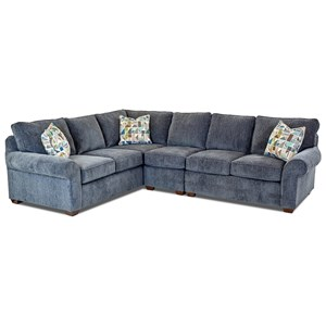3 Pc Sectional Sofa w/ RAF Loveseat