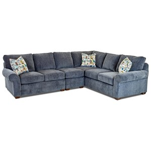 3 Pc Sectional Sofa w/ LAF Loveseat
