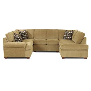 Belfort Basics Choices Custom Upholstery Sectional Sofa