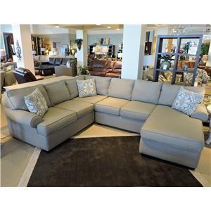 Belfort Basics Choices Custom Upholstery Sectional Sofa