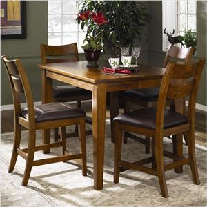 Morris Home Furnishings Tuscon Counter Height Table Set with 4 Stools