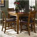 Morris Home Furnishings Tuscon Counter Height Table Set with 4 Stools - Item Number: 340-054+4x924