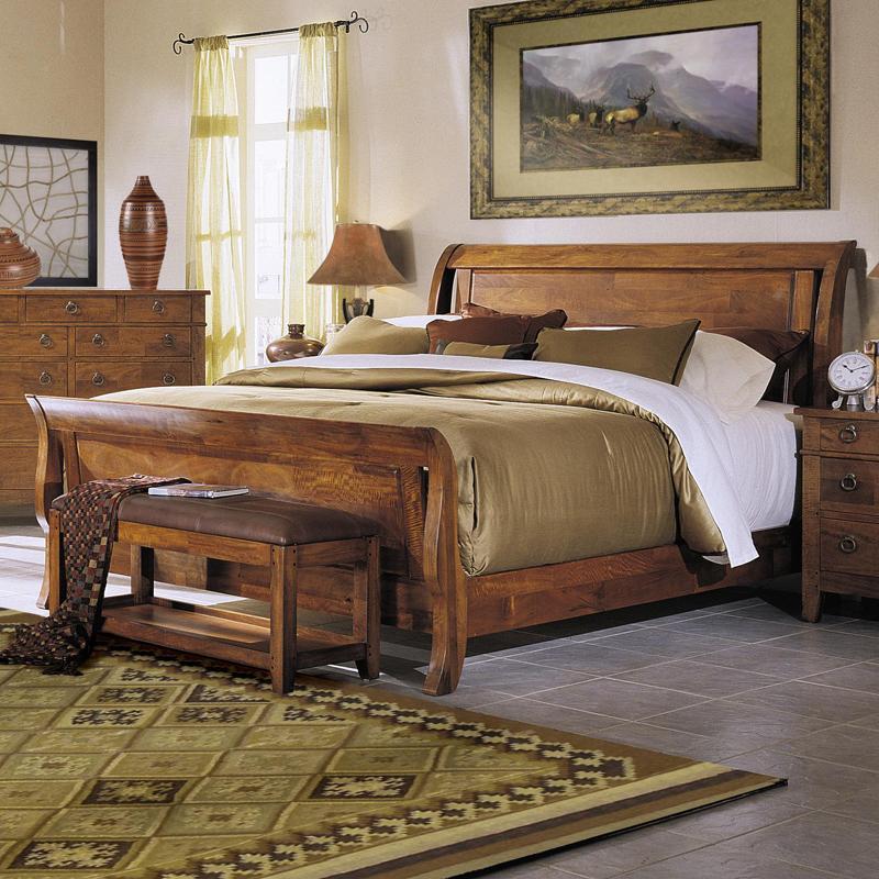 Klaussner International Urban Craftsmen California King Sleigh Bed ...