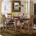 Morris Home Furnishings Tuscon Ladderback Dining Room Arm Chair with Upholstered Seat - Shown as part of 5-piece dining set