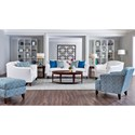 Elliston Place Valhalla Contemporary Upholstered Chair with Flared Arms
