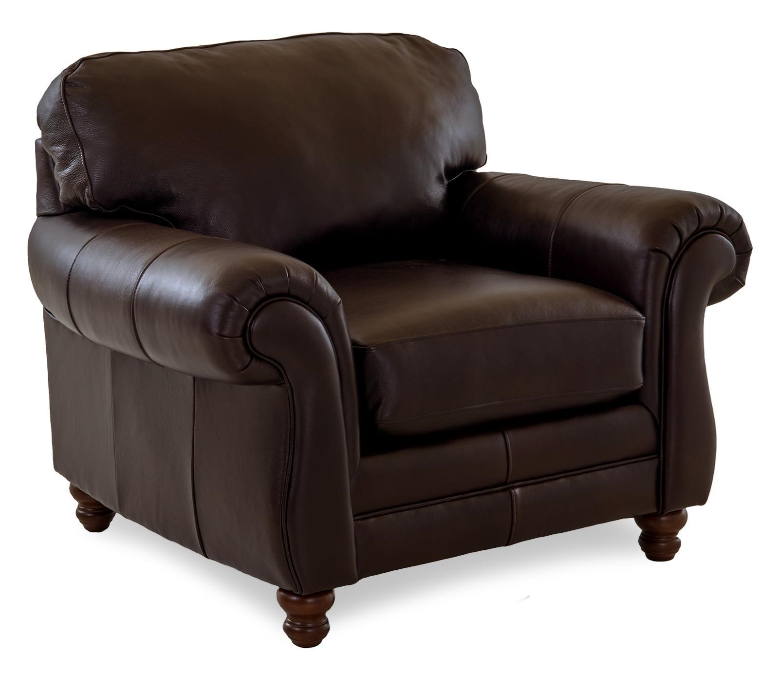 Leather Roll Arm Chair