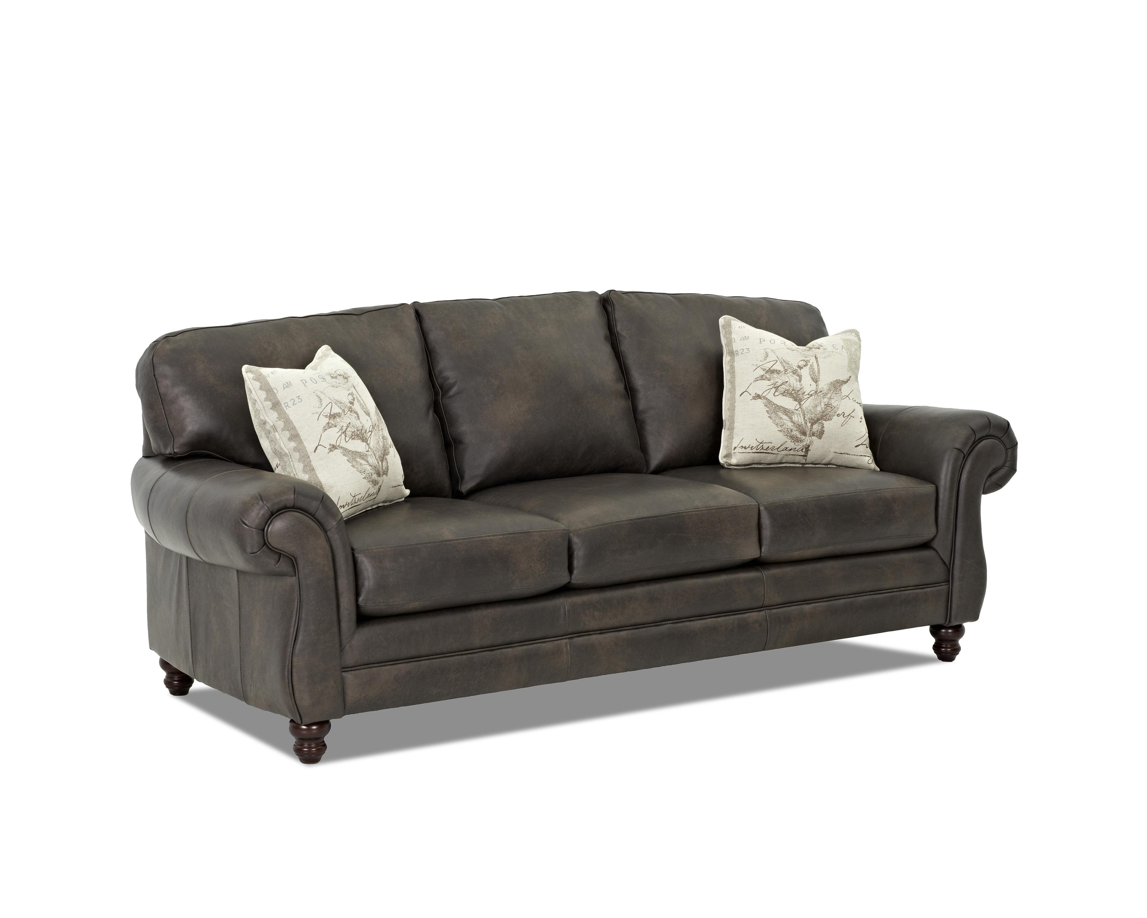Klaussner Valiant Lt56200ap S Leather Sofa With Accent