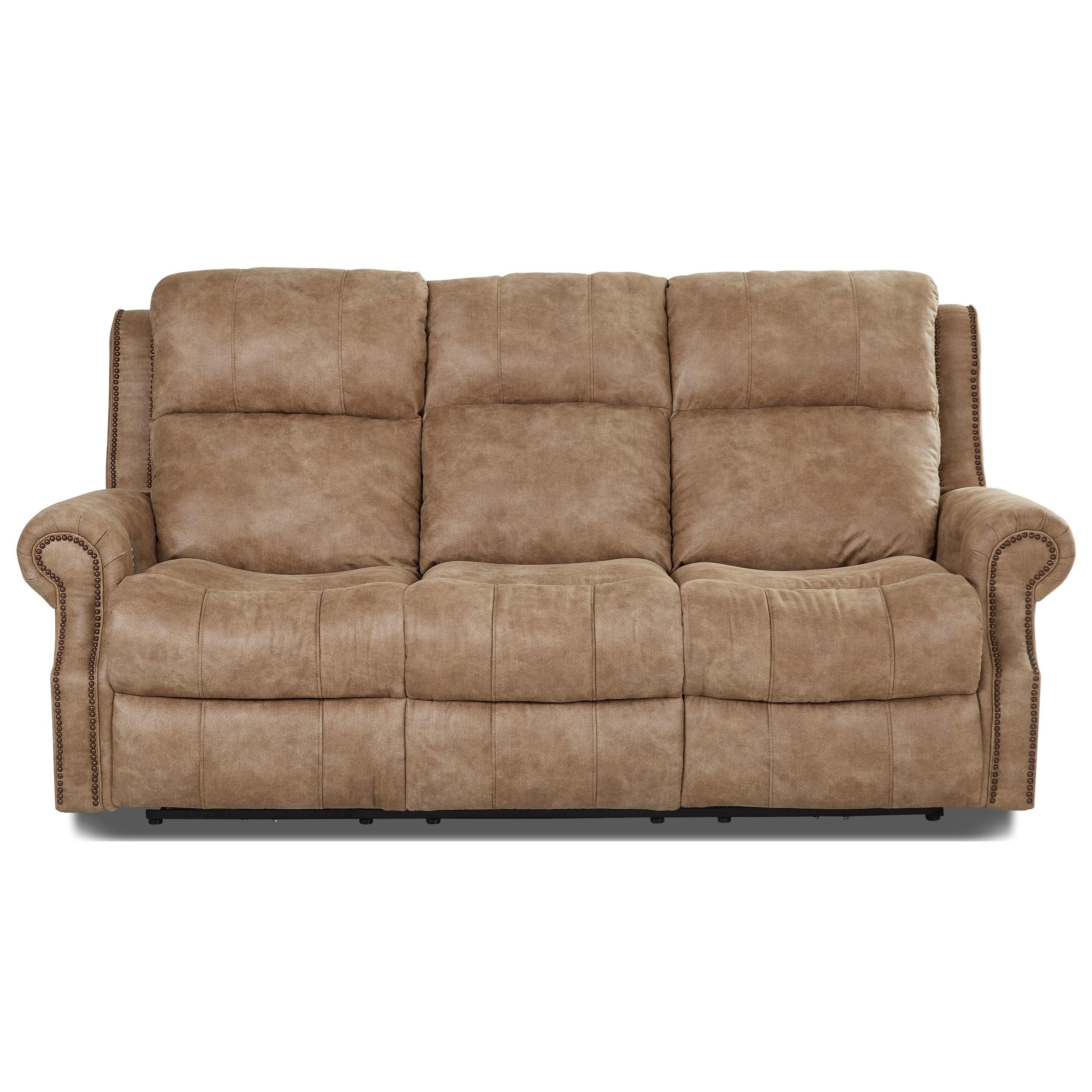 Klaussner Vivio Traditional Power Reclining Sofa with Nailheads