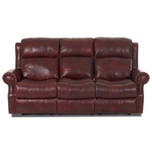 Klaussner Vivio Power Reclining Sofa w/ Pwr Headrest