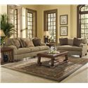 Klaussner Walker Upholstered Chair with Exposed Wood Feet - B64930FC - Shown with Sofa