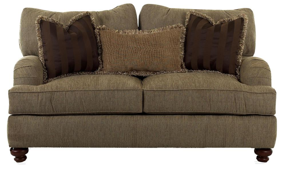 Walker Loveseat With Exposed Wood Feet By Klaussner