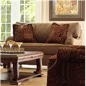 Klaussner Walker Upholstered Chair with Exposed Wood Feet - BO64930FC - Shown in Alternative Fabric