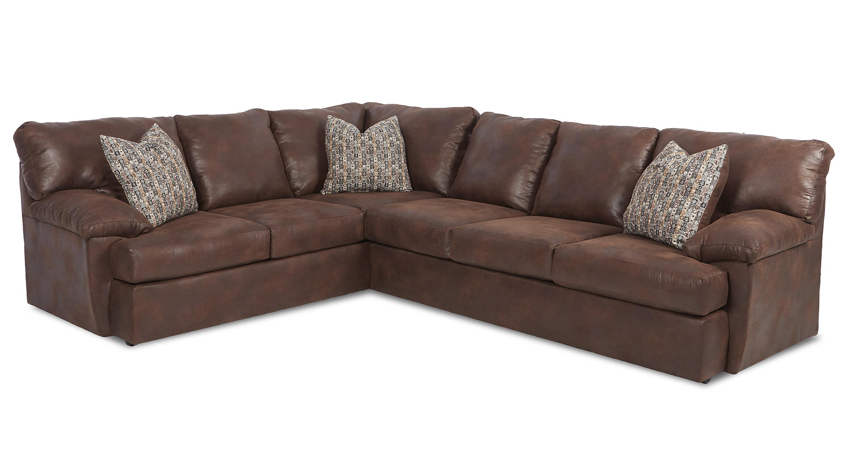 Klaussner Walton Casual Sectional Sofa Wayside Furniture