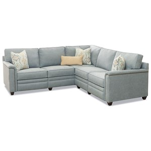 4-Seat Pwr Recline Sectional w/ RAF Love