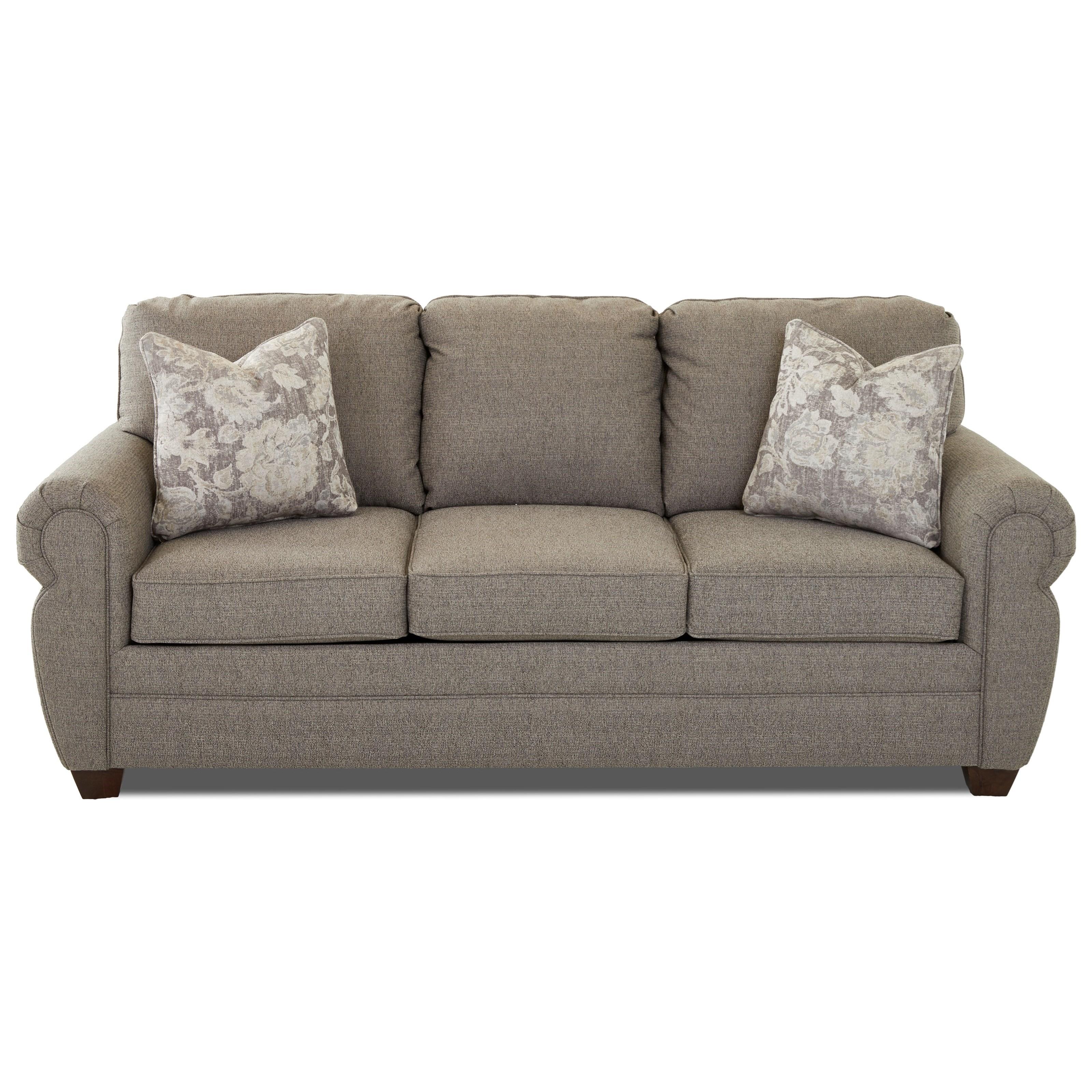 E3000 Aqsl Rolled Arm Sleeper Sofa
