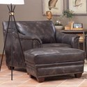 Klaussner Wilkesboro Leather Chair and Ottoman Set - Item Number: LD43410 C+OTTO-LEGENDSSTROMCLOUD