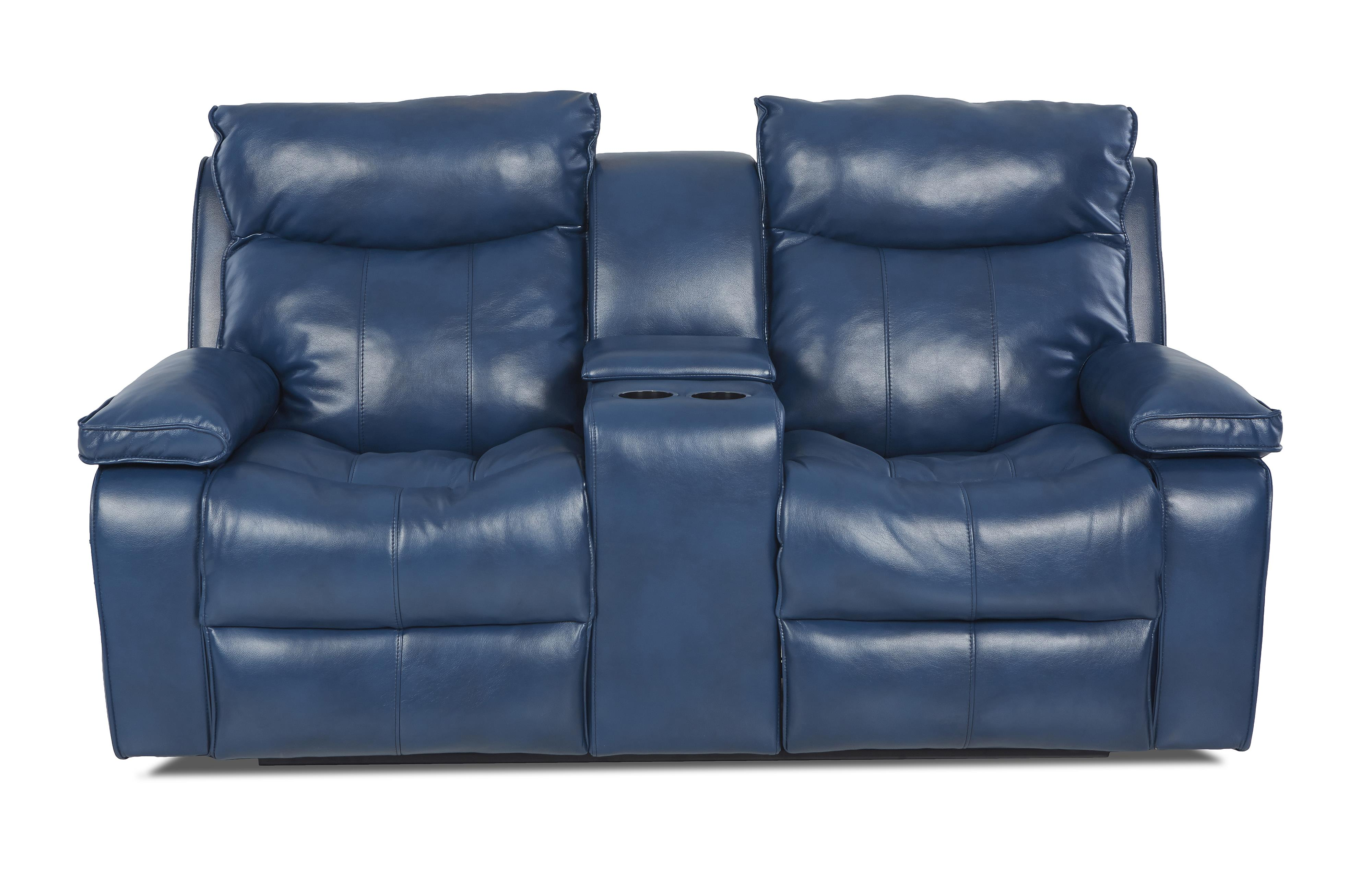 Wilson Contemporary Power Console Reclining Loveseat By Klaussner Wolf Furniture
