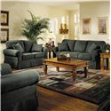 Elliston Place Woodwin Upholstered Loveseat - Shown in Living Room with Matching Sofa