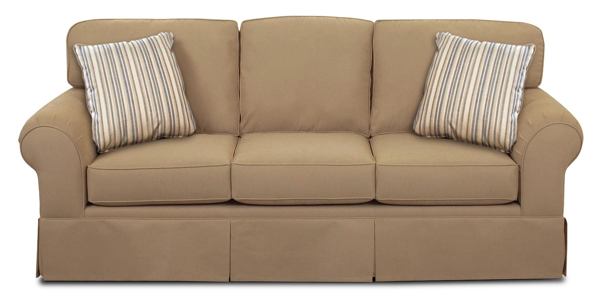 Simple Elegance Asana Skirted Sunbrella Sofa   Item Number:  B48930 S ASANABEIGE