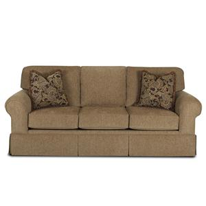 Woodwin Casual Skirted Sofa by Klaussner