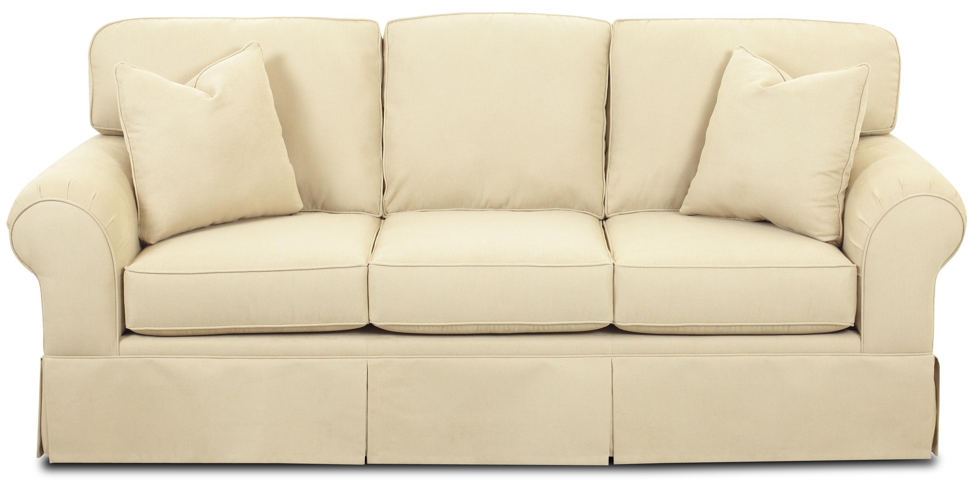 Klaussner Woodwin Sofa - Item Number: B48930S Graham Sand