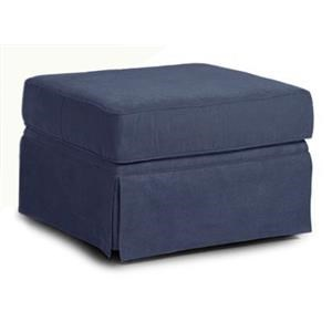 Simple Elegance Asana Skirted Sunbrella Ottoman
