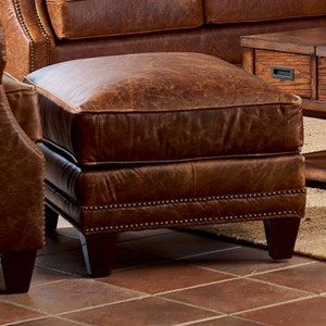 Klaussner York Ottoman w/ Nails