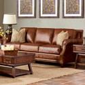 Klaussner York Sofa - Item Number: LD58710AP S-Chaps Saddle