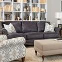 Klaussner York Sofa - Item Number: LD58710AP S-Laramie Grey