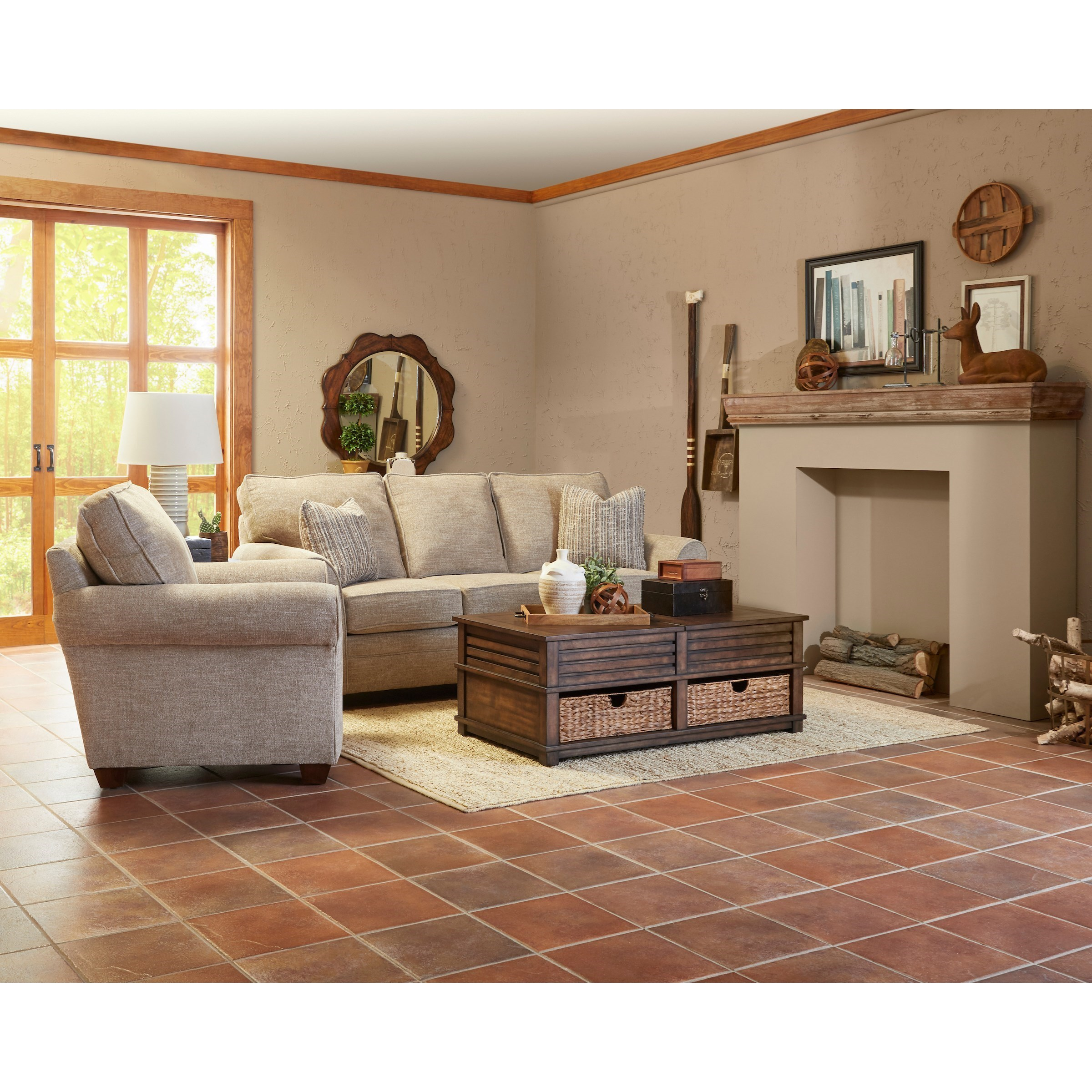 Zack Living Room Group by Klaussner at Suburban Furniture