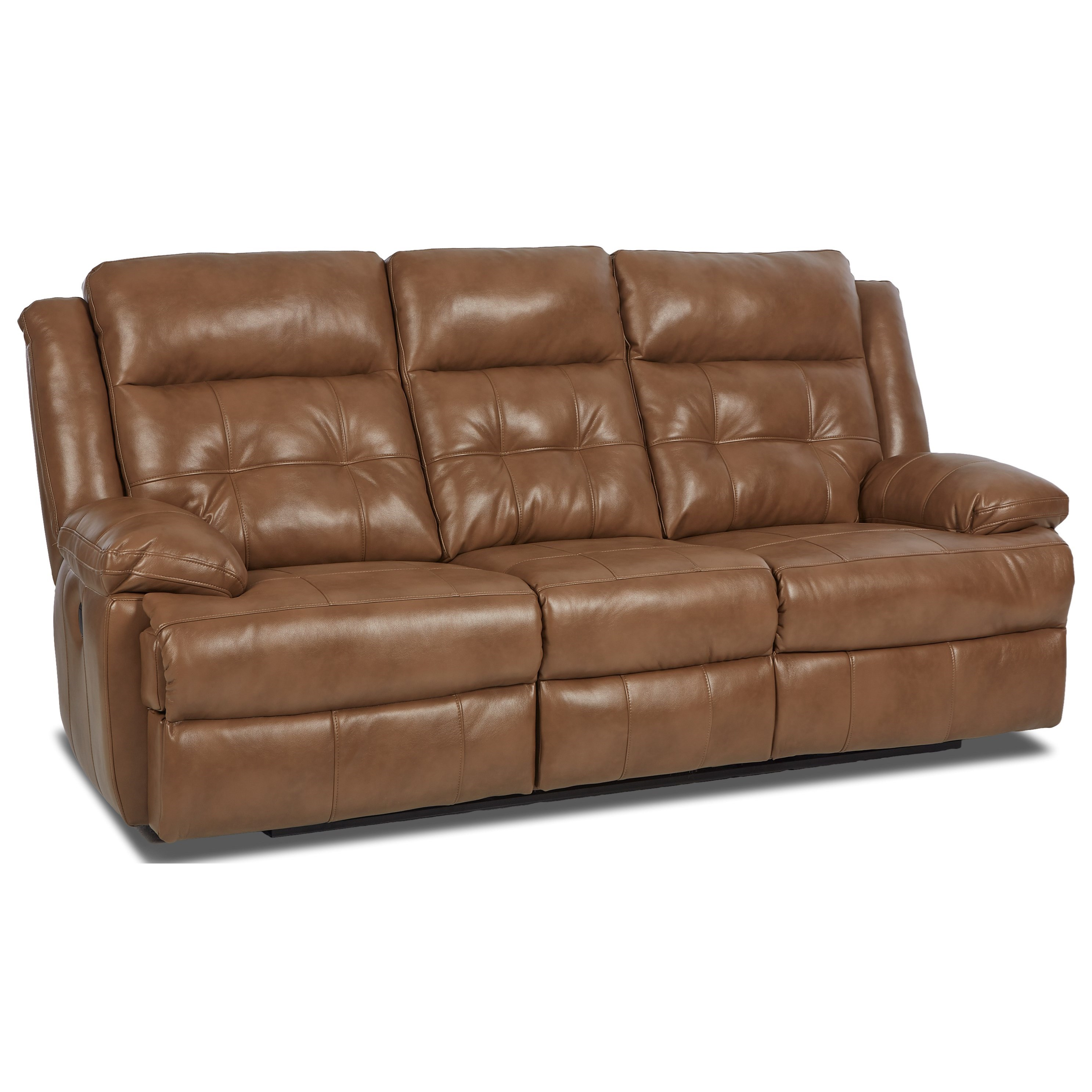 Zeus Transitional Power Reclining Sofa With Tufted Back Morris Home Reclining Sofas