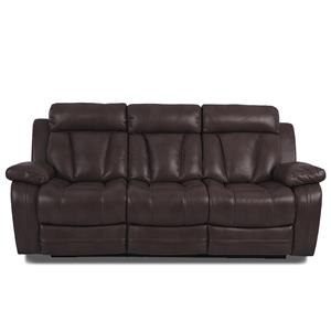 Klaussner International  Atticus-US Reclining Sofa W/ Table