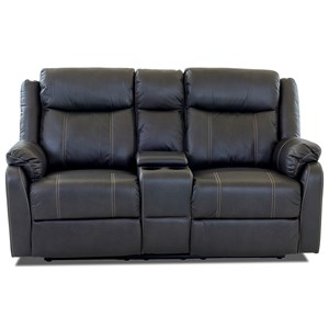 Klaussner International  Domino-US Console Reclining Loveseat