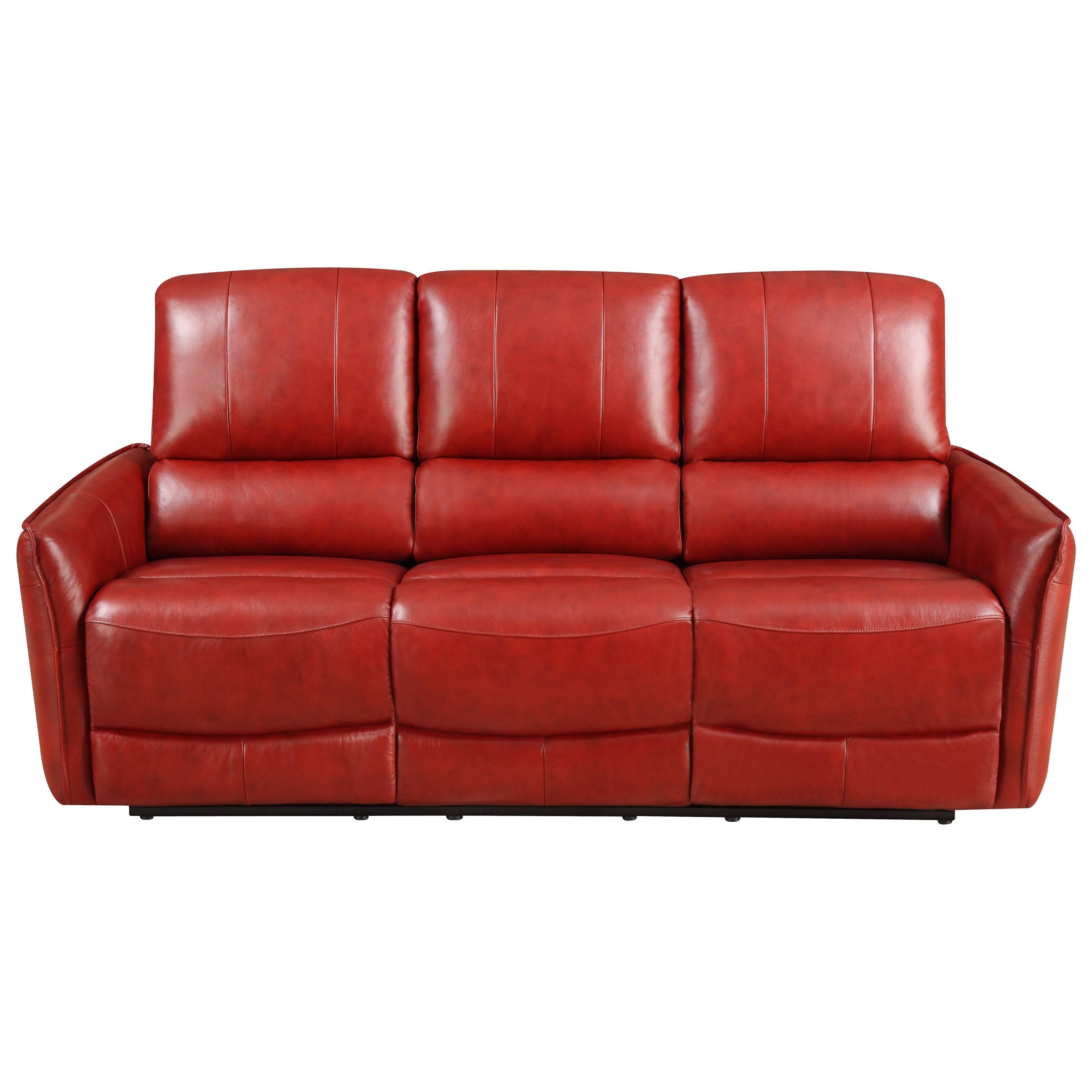 Klaussner International Adonis Reclining Sofa Red Knot