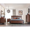 Klaussner International Affinity Queen Panel Bed with Square Legs