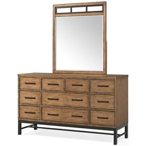 Klaussner International Affinity Dresser and Mirror