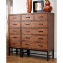 Belfort Basics Affinity 5 Drawer Lingerie Chest with Trestle Base - Shown with 6 Drawer Chest