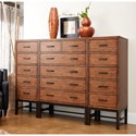 Belfort Basics Affinity 5 Drawer Lingerie Chest with Trestle Base - 2 Lingerie Chests Shown with 6 Drawer Chest