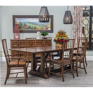 Carolina Preserves by Klaussner Blue Ridge 7 Piece Table and Chair Set