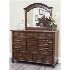 Morris Home Furnishings Livingston Dresser and Mirror Set