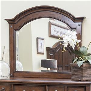 Easton Collection Blue Ridge Cherry Panel Mirror with Bolt Covers