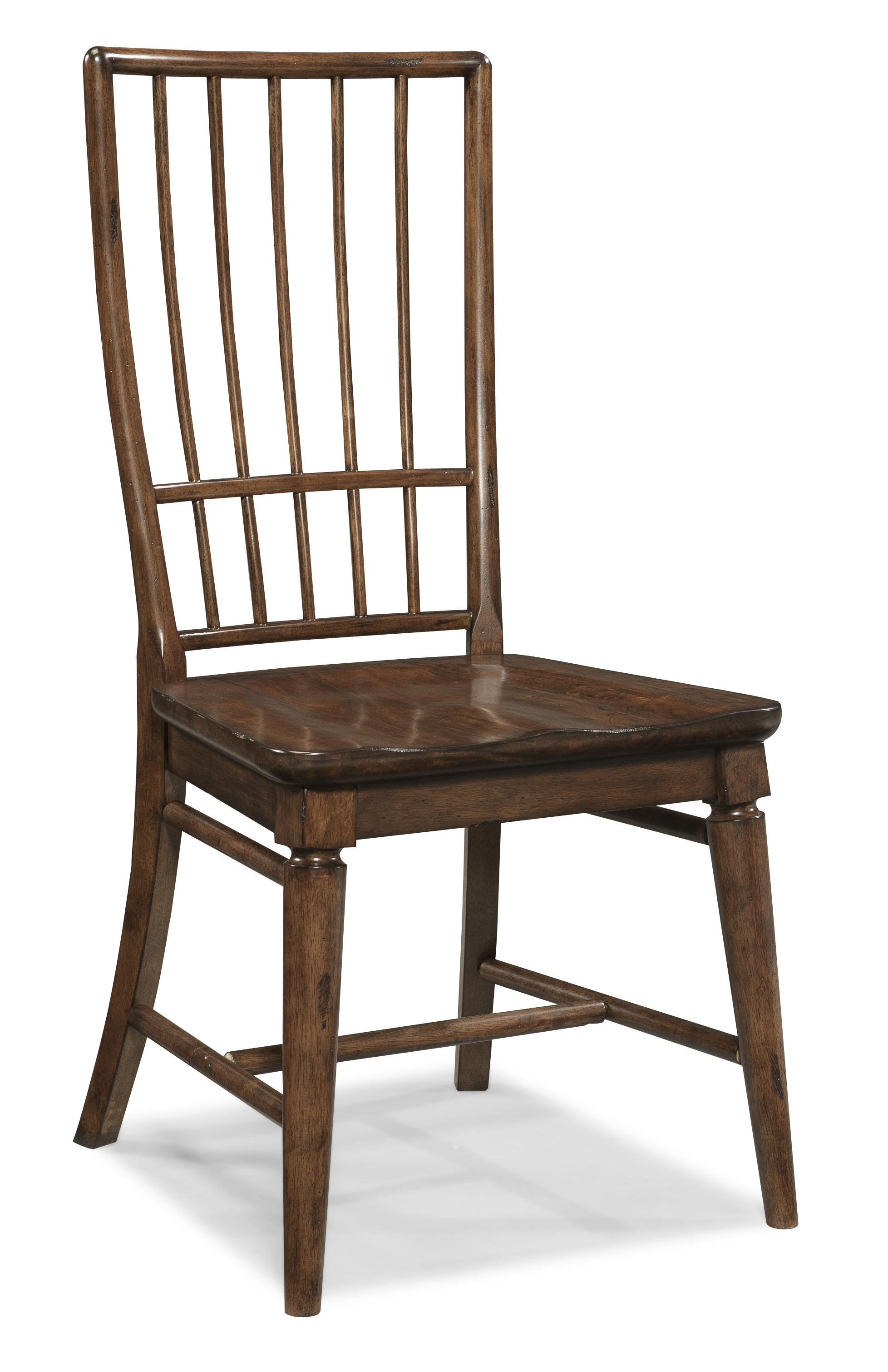 Carolina Preserves By Klaussner Blue Ridge Cherry Rake Back Side Chair    Item Number: 426